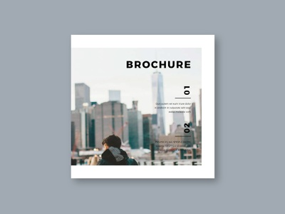 Square Cool Modern Style Trifold cool trifold magazine print download brochure template modern design minimal