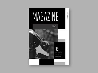 Modern Black & White Music Magazine branding editorial magazine print brochure template modern design minimal