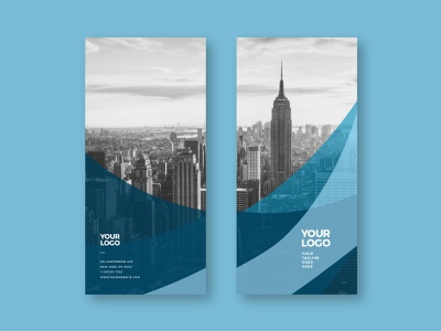 Modern Business Blue Trifold blue trifold brochure editorial print download template modern design minimal