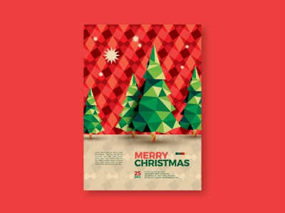 Cool Pattern Christmas Flyer modern pattern design christmas card xmas poster design print design christmas flyer card poster