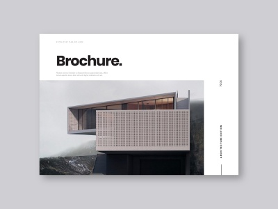 Minimal Architecture Brochure architecture editorial magazine print download brochure template modern design minimal