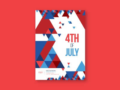 Minimal 4th Of July Flyer independence day 4th of july poster flyer print download template modern design minimal