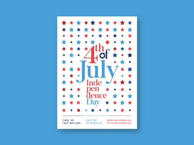 Stars 4th Of July Flyer independece day 4th of july stars poster flyer download print template design modern minimal