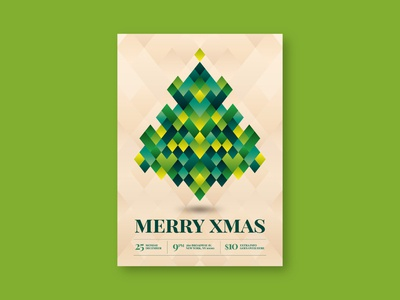 Cool Pattern Christmas Tree Flyer