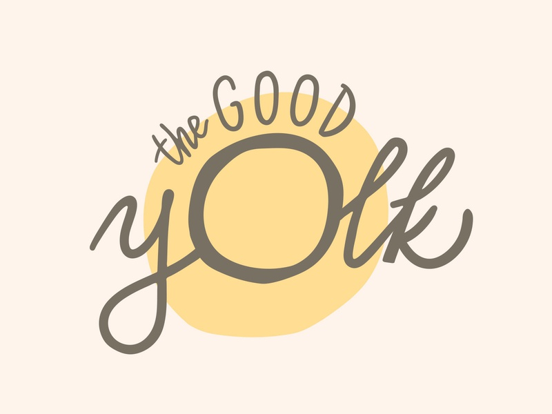 The Good Yolk logo vector illustrator logo design health food typography branding logo