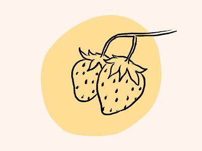 The Good Yolk Illustrations photoshop branding flower pastel health natural food procreate hand drawn illustraion