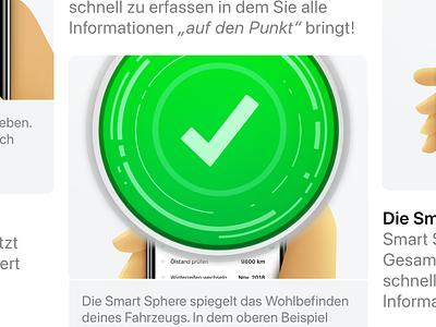 Smart Sphere information design product design öamtc car green hal 9000 illustration design icon app iphone ios motion graphics graphic design animation