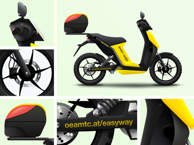 Easy Way eScooter vector graphic design animation electric scooter yellow design illustration icon texture app ios iphone