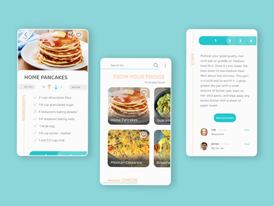 Zero waste mobile app mobile cookbook mobile app app design mobile ui ui