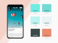 Color palette for travel app