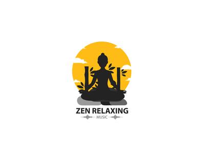 Zen Relaxing Music Logo Design flat logo flat logo design creative logo design creative design creative logo logo designer logos logo logo design zen relaxing music zen relaxing zen