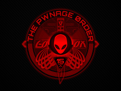 Alienware Pwnage Order Logo allyourbase ui red neon hi-tech aliens alienware branding logo