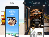 Patron Tequila Mobile UI/UX