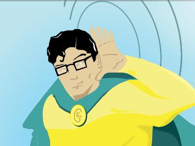 The Golden Ear Male superhero characters illustration superheroes