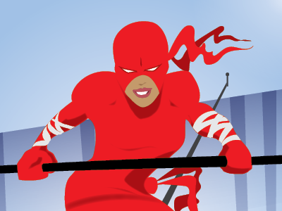 Equilibrium Ninja ninja superhero characters illustration superheroes