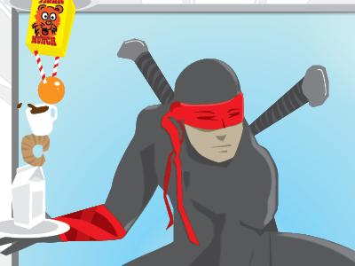 Equilibrium Ninja Male ninja superhero characters illustration superheroes