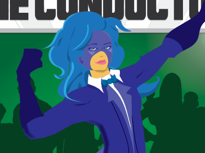 The Conductor Female superhero characters illustration superheroes