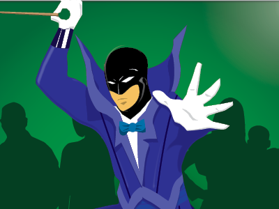 The Conductor Male superhero characters illustration superheroes
