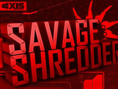 Savage Shredder tech typography futuristic uidesign interface 3d