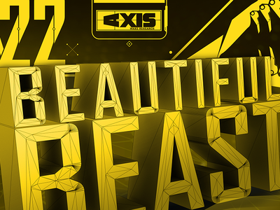 Beautiful Beast tech typography futuristic uidesign interface 3d