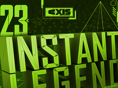 Instant Legend tech typography futuristic uidesign interface 3d