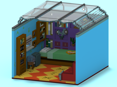 Hey Arnold! Room magicavoxel childhood voxels voxelart voxel art design 3d animation 3d art 3d