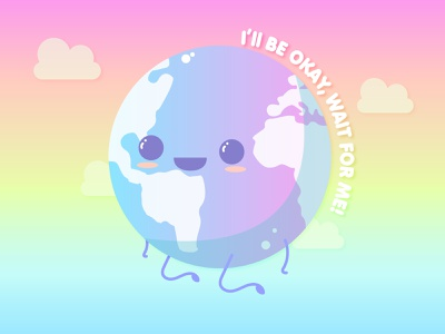 Happy Earth Day!🌱 vector illustration vector art vector earth day earth kawaii art kawaii illustration art illustration design
