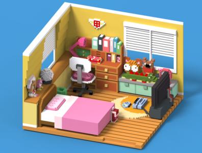 Cardcaptor Sakura's Room.