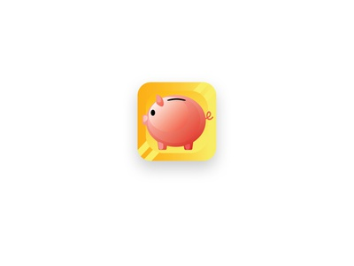 Daily UI 005 - Fintech App Icon userexperience daily ui 005 piggybank finance banking logo uiux daily 100 challenge dailyui design 100daysofui daily ui app icon fintech
