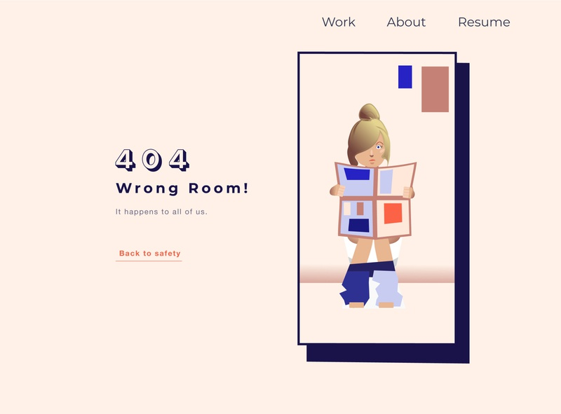 Daily UI 008 - Quirky 404 Page toilet funny or die quirky 404 error page 404 error 404 page portfolio 404 userexperience uiux design daily ui daily 100 challenge dailyui 100daysofui