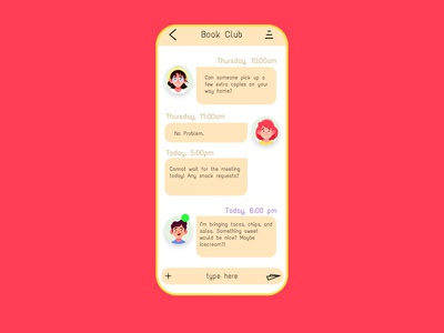 Daily UI 013 - Direct Messaging colorful ui daily ui 13 daily ui 013 chatbox messaging direct messaging dm direct message ux ui uiux userexperience daily ui design daily 100 challenge dailyui 100daysofui