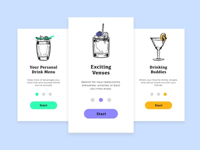 Daily UI 023 - Drink App Onboarding bartender daily ui 023 daily ui 23 liquor app liquor wine beer bars bar app drink app drinking branding uiux ui userexperience daily ui design daily 100 challenge dailyui 100daysofui