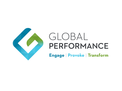Global Performance Logo typography icon vector branding logo