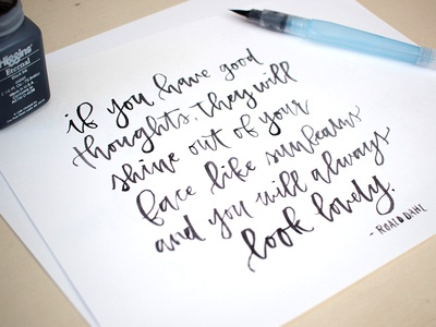 Modern Brush Calligraphy