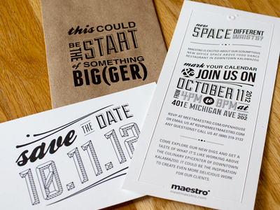 Maestro Open House Invitation, Envelope & Save the Date