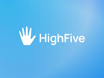 High Five Bionics Logo gradient branding logo desing blue hand high five bionics visual identity visual design logo design branding logotype logo