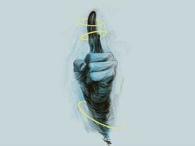 Warning hoops gesture procreate playful handdrawn warning hand imagination digitalart freelance illustrator illustration