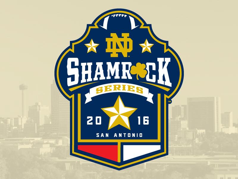 a2dee7d38 2016 Shamrock Series  Notre Dame star football texas shamrock notre dame