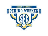 SEC 2016 Opening Weekend Baseball logo