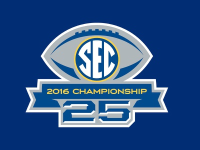 SEC 25th Football Championship Logo championship football 25 sec