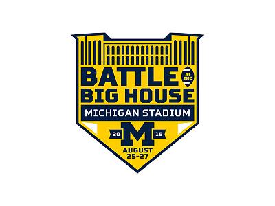 Battle at the Big House big house football michigan
