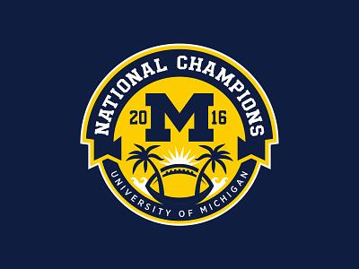 Michigan National Champs Logo 2016 champs national football michigan