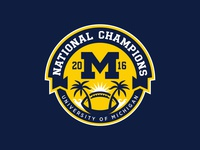 Michigan National Champs Logo 2016
