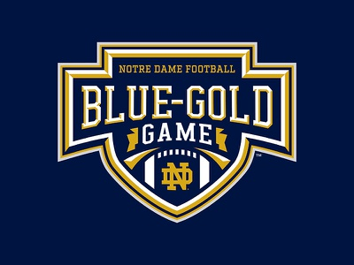 Notre Dame Blue Gold Game game irish football notre dame
