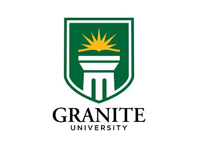 Granite University construction granite university yellow green
