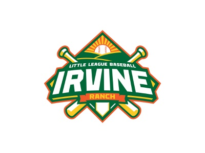 Irvine Ranch Baseball League yellow orange green baseball