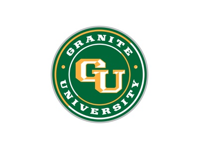 Granite University Roundal gold green roundal badge