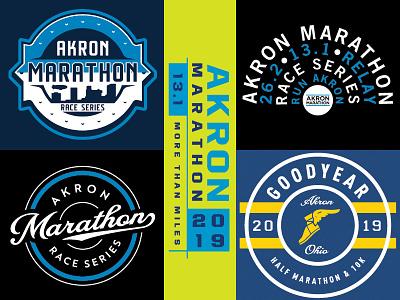 Akron Marathon Race Series design shirt marathon akron