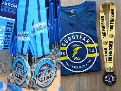 Akron Marathon Race Medals medals race marathon akron