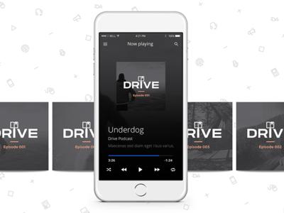 Drive Podcast Branding podcast cover branding